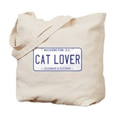 District of Columbia Cat Lover Tote Bag