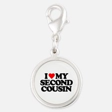 I LOVE MY SECOND COUSIN Silver Round Charm