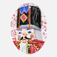 Nutcracker Face Oval Ornament