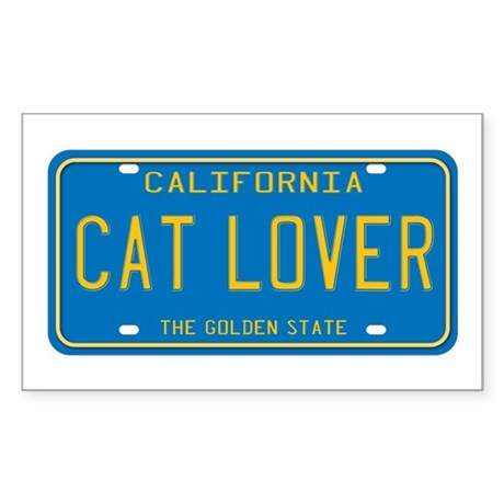 California Cat Lover Rectangle Sticker