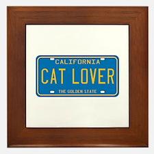 California Cat Lover Framed Tile