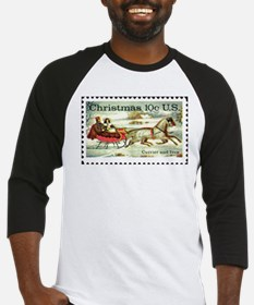 Unique Christmas stamp Baseball Jersey
