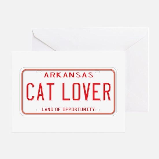 Arkansas Cat Lover Greeting Card