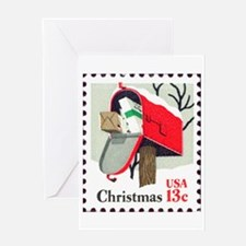 Christmas-Stamp-1977_10x10 Greeting Cards