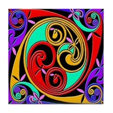 Celtic Spirals Ceramic Tile
