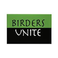 Birders Unite Green Rectangle MAGNET (10)