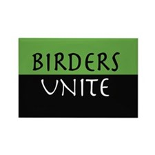 Birders Unite Green Rectangle MAGNET