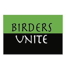 """Birders Unite"" Eco Green POSTCARDS (8)"