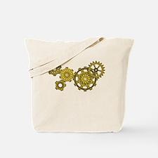 Woven Clockwork Tote Bag