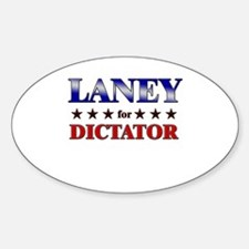 LANEY for dictator Oval Decal