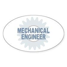 Mechanical Engineer Oval Decal