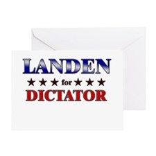 LANDEN for dictator Greeting Card