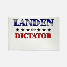 LANDEN for dictator Rectangle Magnet