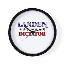 LANDEN for dictator Wall Clock