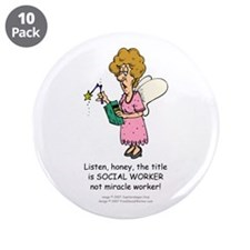 "Miracle Worker 3.5"" Buttons (10 pack)"