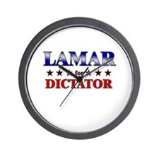 LAMAR for dictator Wall Clock