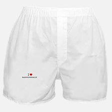 I Love RADIOLOGICALLY Boxer Shorts