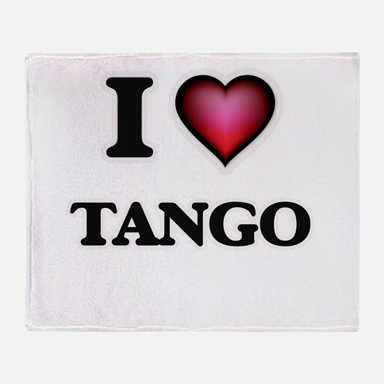 I Love TANGO Throw Blanket