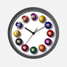 Billiards Round 12 Wall Clock