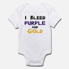 I Bleed Purple and Gold Infant Bodysuit