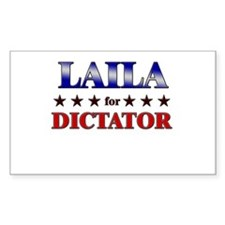 LAILA for dictator Rectangle Decal
