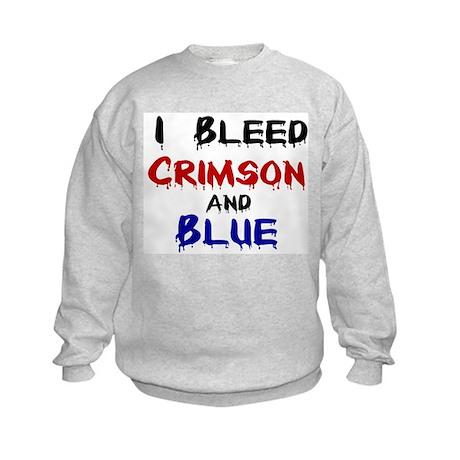 I Bleed Crimson and Blue Kids Sweatshirt