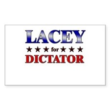 LACEY for dictator Rectangle Decal
