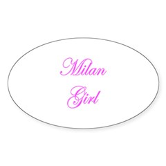 Milan, Italy Oval Decal