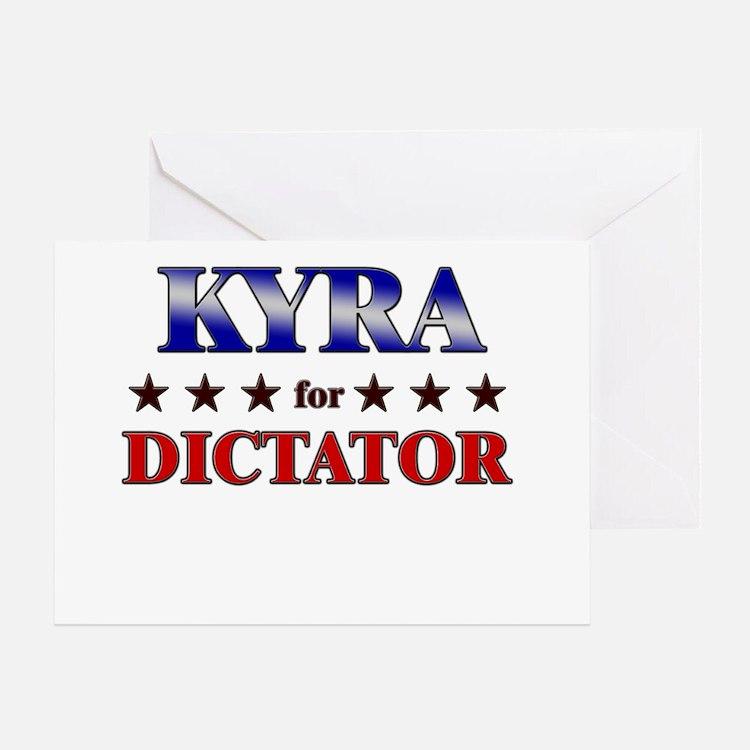 KYRA for dictator Greeting Card