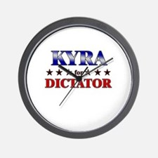 KYRA for dictator Wall Clock