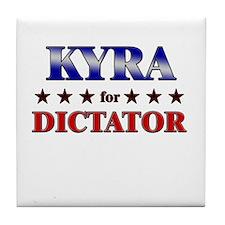 KYRA for dictator Tile Coaster