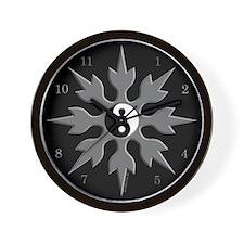 Yin Yang Throwing Star Wall Clock