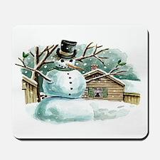 Woodland Snowman Mousepad