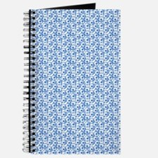 Blue and White Fiel of Daisy Flowers Journal