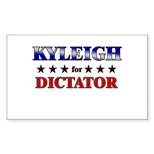 KYLEIGH for dictator Rectangle Decal