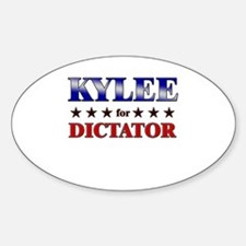 KYLEE for dictator Oval Decal
