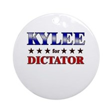 KYLEE for dictator Ornament (Round)