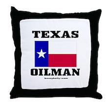 Texas Oilman Throw Pillow