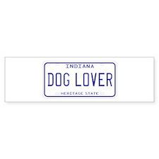 Indiana Dog Lover Bumper Bumper Sticker