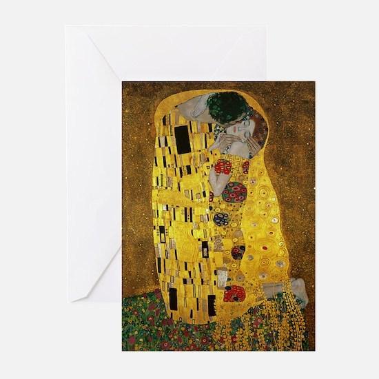 Gustav Klimt The Kiss Greeting Cards