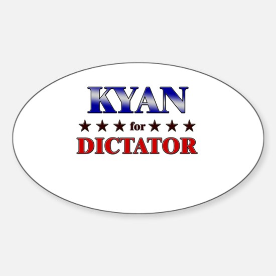 KYAN for dictator Oval Decal