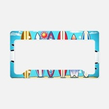 Cute Surfboards License Plate Holder