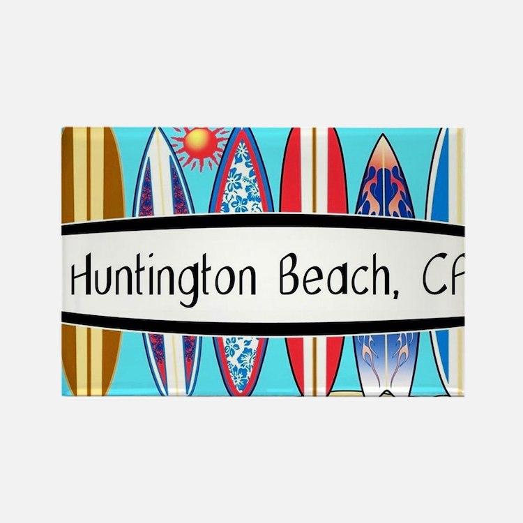 Cute Huntington beach Rectangle Magnet