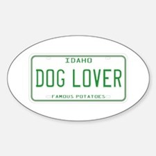 Idaho Dog Lover Oval Decal