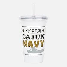 The Cajun Navy Skiff Acrylic Double-wall Tumbler