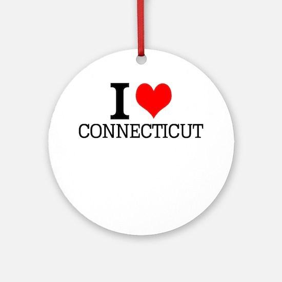 I Love Connecticut Round Ornament