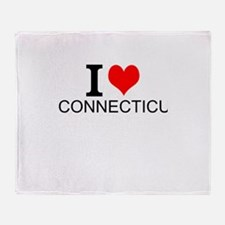 I Love Connecticut Throw Blanket