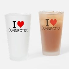 I Love Connecticut Drinking Glass