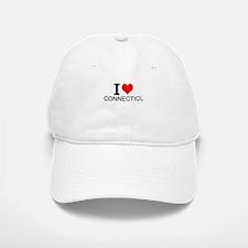 I Love Connecticut Baseball Baseball Baseball Cap