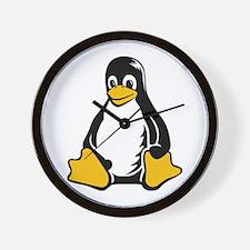 linux tux penguin Wall Clock
